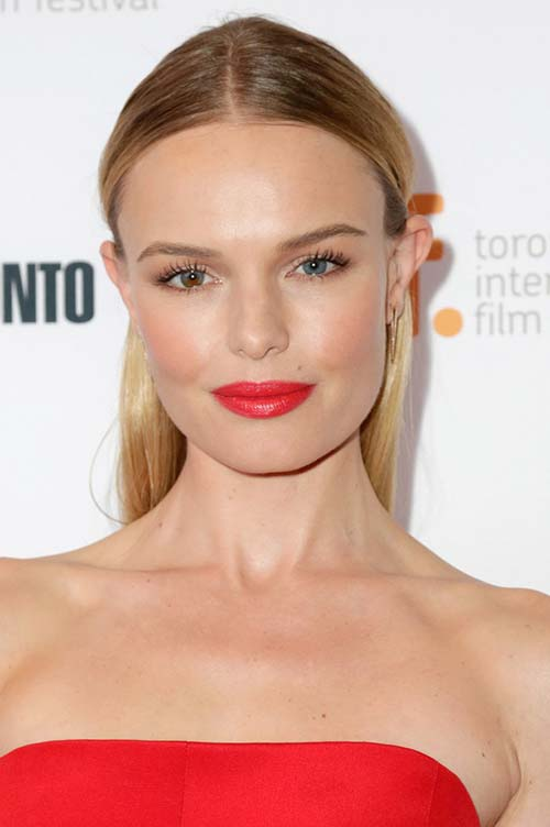 20 Stylish Ways to Wear Center Part Hairstyles: Kate Bosworth