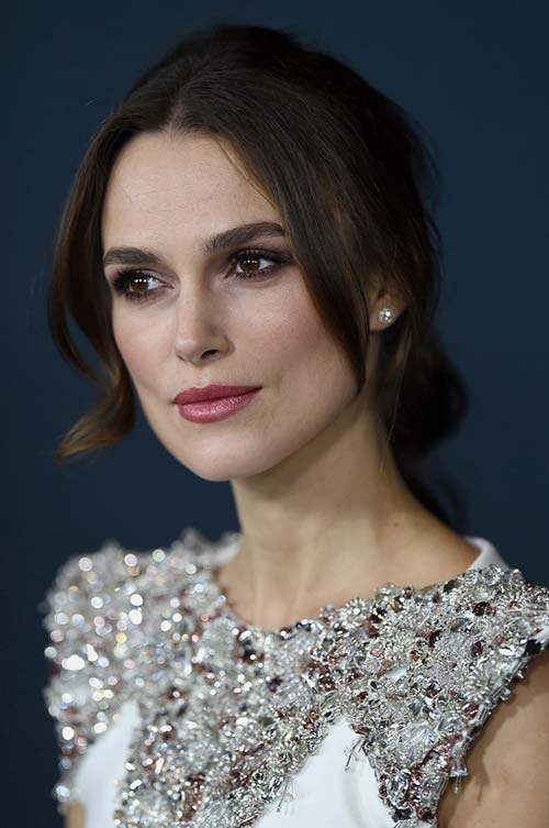 20 Stylish Ways to Wear Center Part Hairstyles: Keira Knightley