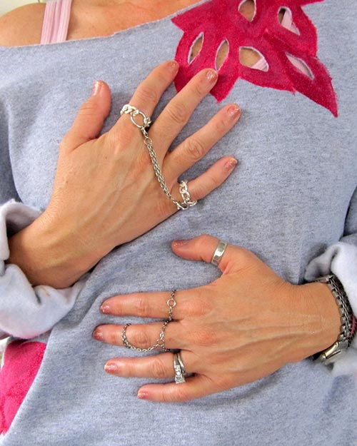 How to Wear Rings: Chained Rings