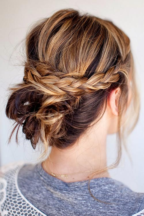 Cool Updo Hairstyles For Women With Short Hair Fashionisers C