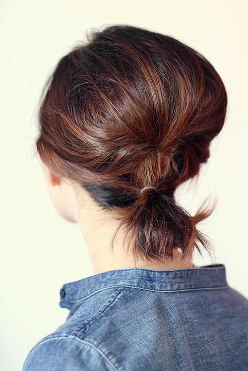 Updo Hairstyles for Short Hair: Short Teased Ponytail
