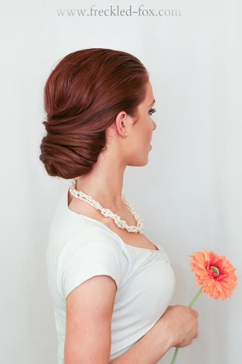 10 Gorgeous Holiday Party Hairstyles: Wrapped Chignon