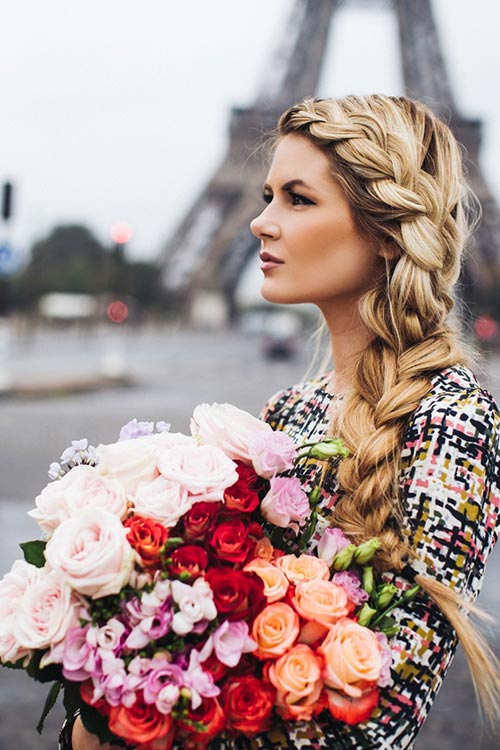 10 Gorgeous Holiday Party Hairstyles: Side French Braid