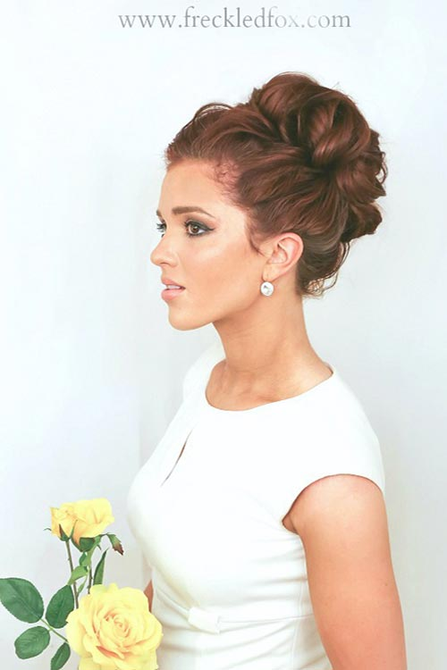 10 Gorgeous Holiday Party Hairstyles: High Curly Bun