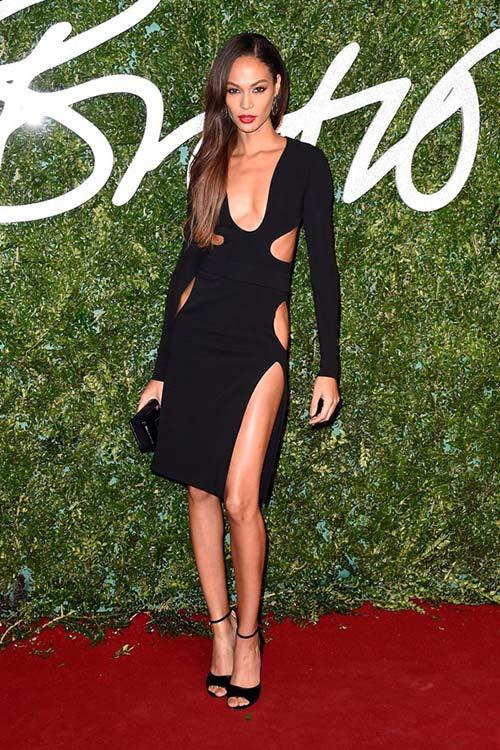 British Fashion Awards 2014 Red Carpet Fashion: Joan Smalls