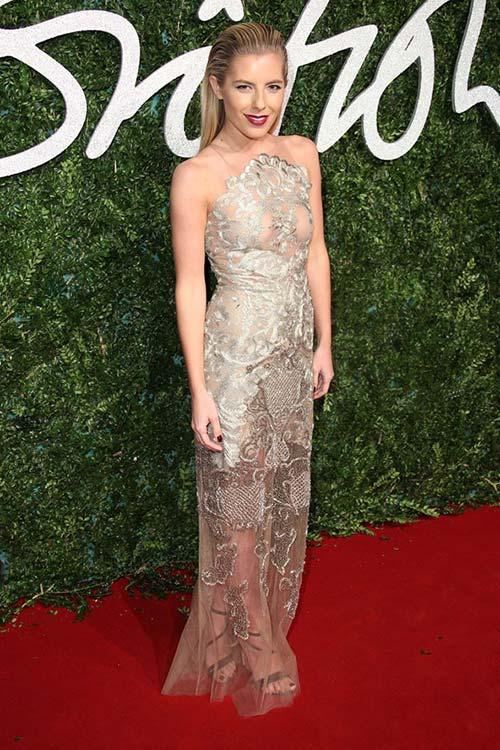 British Fashion Awards 2014 Red Carpet Fashion: Mollie King