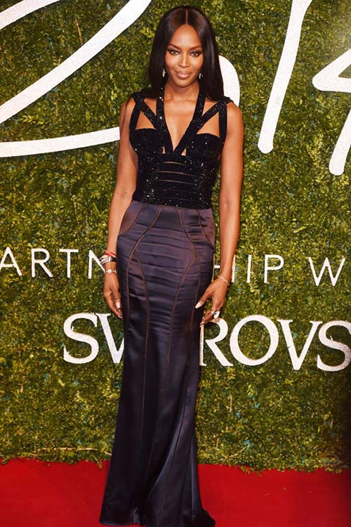 British Fashion Awards 2014 Red Carpet Fashion: Naomi Campbell