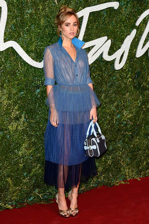British Fashion Awards 2014 Red Carpet Fashion: Suki Waterhouse