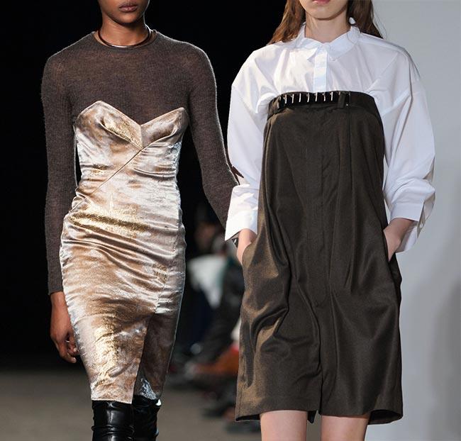 Ways of Wearing Bustier Dresses in Winter