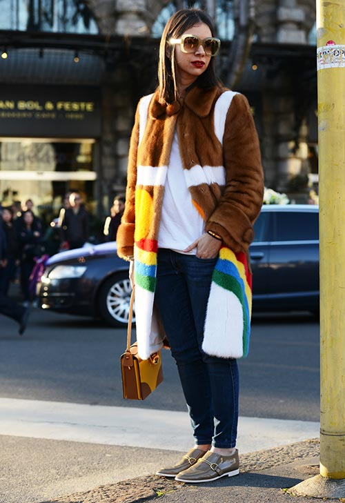 Ways of Wearing Colorful Winter Fur