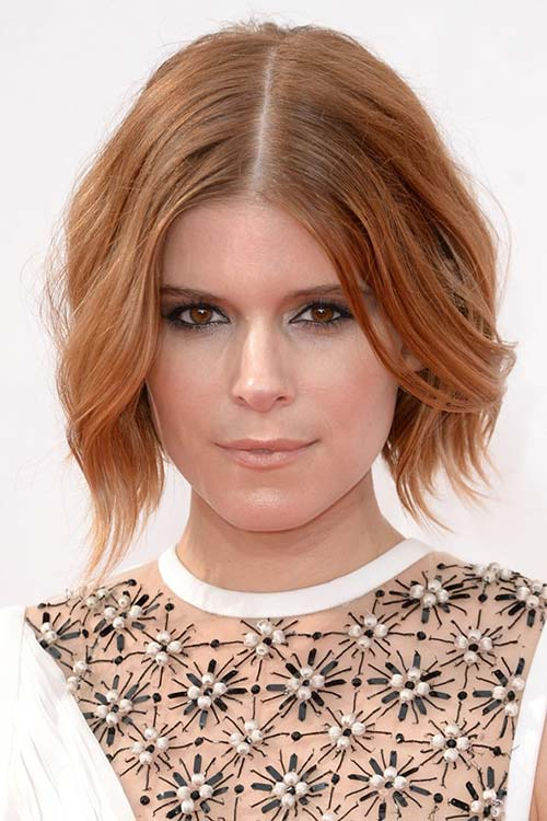 Pretty Holiday Hairstyles to Meet 2015 In Style: Center Part Hair - Kate Mara