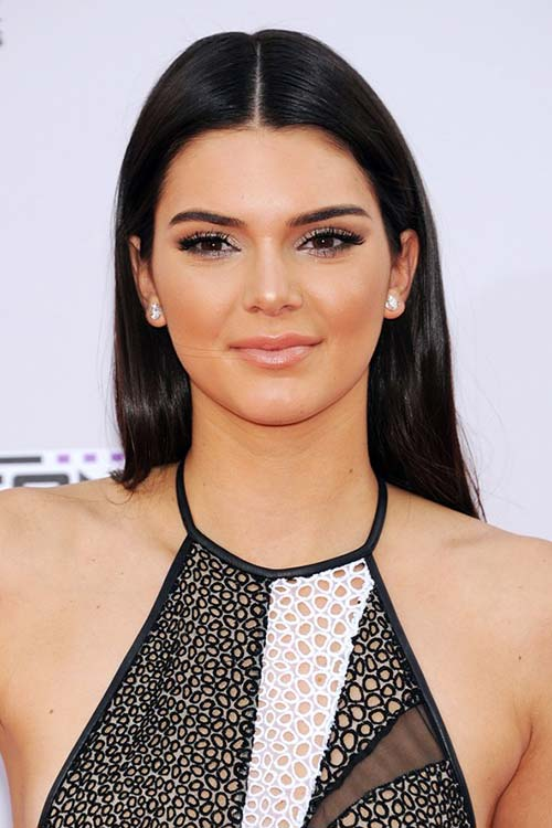 Pretty Holiday Hairstyles to Meet 2015 In Style: Long Straight Hair - Kendall Jenner