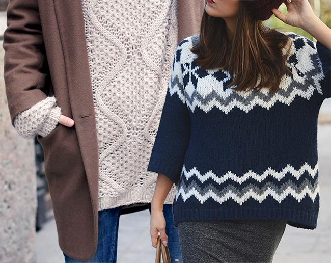 How to Wear an Oversized Sweater