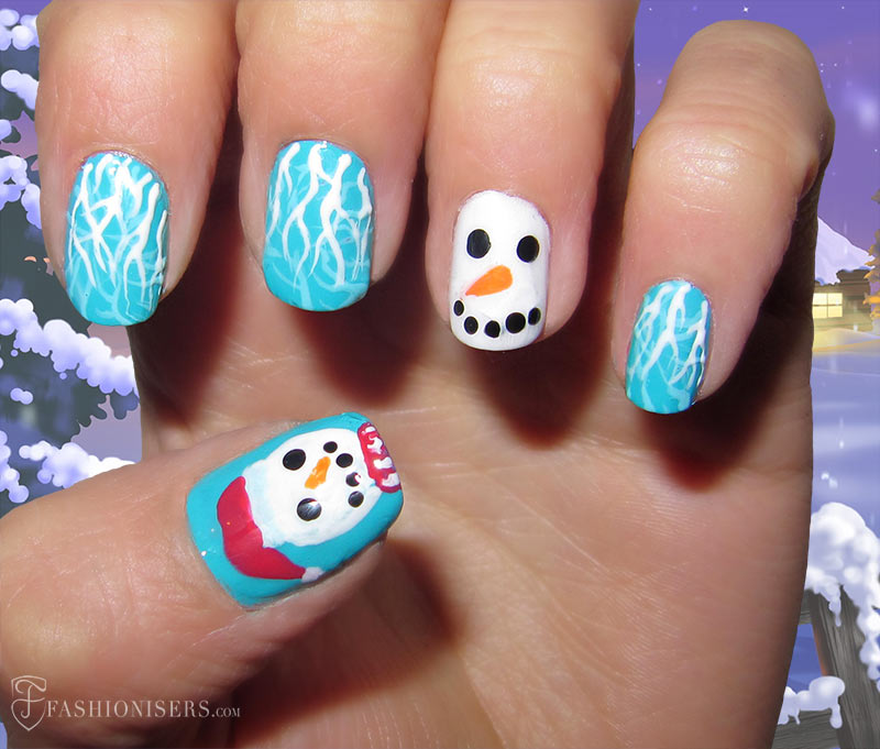 19 unique holiday nail art designs fashionisers 19 unique holiday nail art designs snowman nails prinsesfo Images