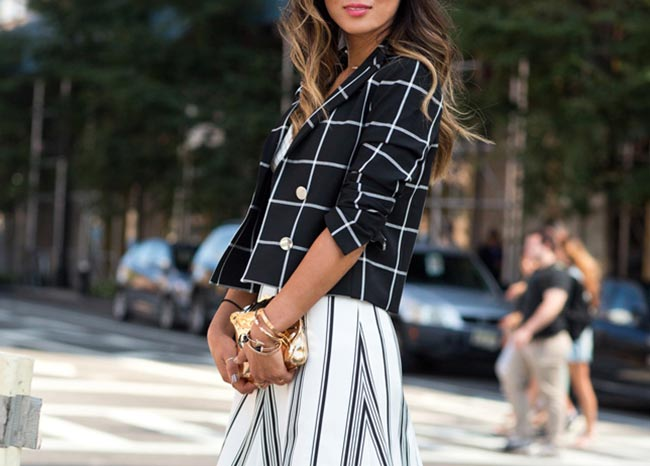 Windowpane Check Fashion Inspiration
