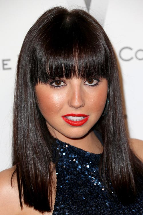 2015 Stylish Celebrity Hairstyles: Krystle Mcgill Straight Hair With Bangs