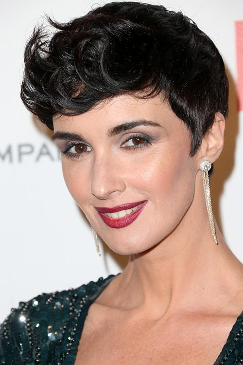 2015 Stylish Celebrity Hairstyles: Paz Vega Short Messy Hair