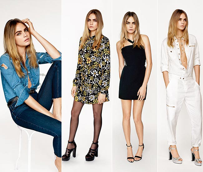 Cara Delevingne for Topshop Spring 2015 Collection