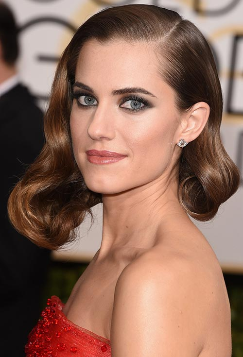Golden Globes 2015 Celebrity Hairstyles and Makeup: Allison Williams