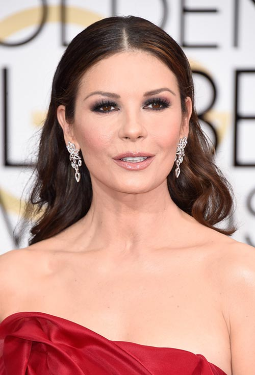 Golden Globes 2015 Celebrity Hairstyles and Makeup: Catherine Zeta-Jones