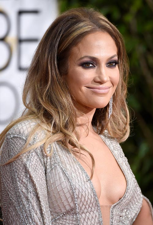 Golden Globes 2015 Celebrity Hairstyles and Makeup: Jennifer Lopez