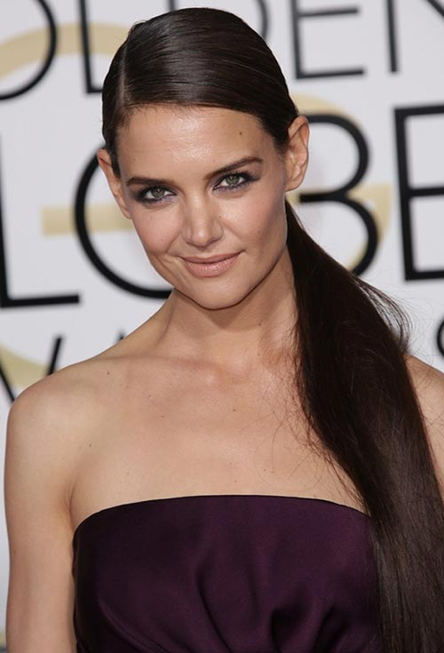 Golden Globes 2015 Celebrity Hairstyles and Makeup: Katie Holmes