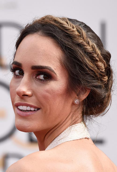 Golden Globes 2015 Celebrity Hairstyles and Makeup: Louise Roe