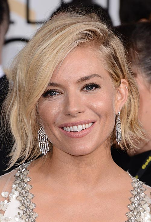 Golden Globes 2015 Celebrity Hairstyles and Makeup: Sienna Miller