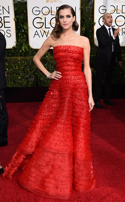 Allison Williams at Golden Globes 2015