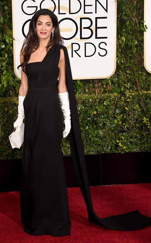 Amal Clooney at Golden Globes 2015