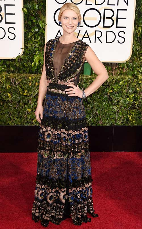 Claire Danes at Golden Globes 2015