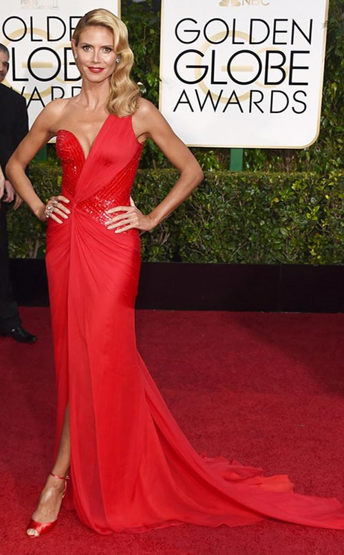 Heidi Klum at Golden Globes 2015