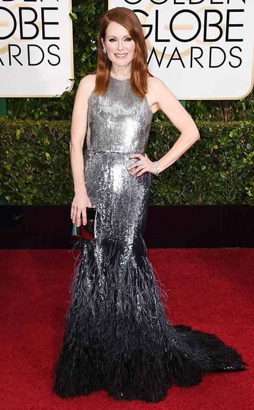 Julianne Moore at Golden Globes 2015