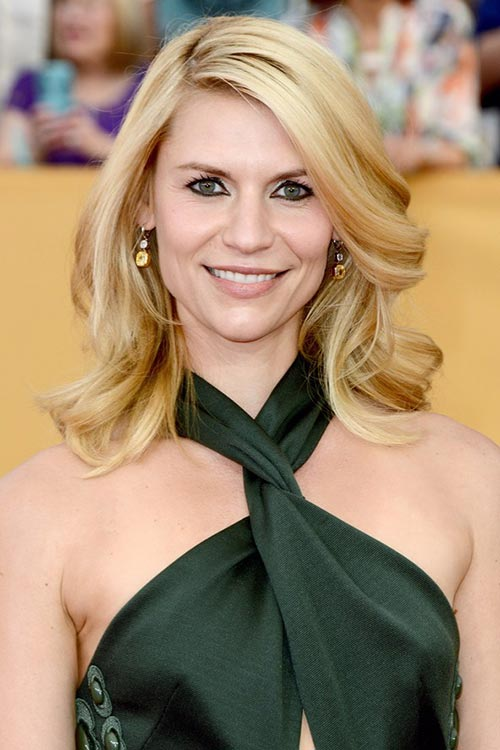 SAG Awards 2015 Hairstyles and Makeup: Claire Danes