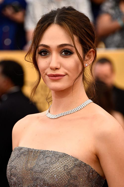 SAG Awards 2015 Hairstyles and Makeup: Emmy Rossum