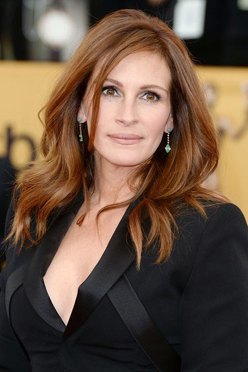 SAG Awards 2015 Hairstyles and Makeup: Julia Roberts