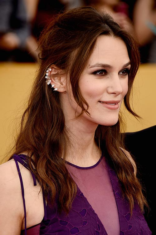 SAG Awards 2015 Hairstyles and Makeup: Keira Knightley