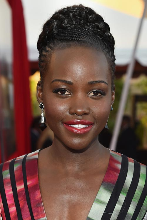 SAG Awards 2015 Hairstyles and Makeup: Lupita Nyong'o