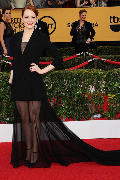 SAG Awards 2015 Red Carpet Fashion: Emma Stone