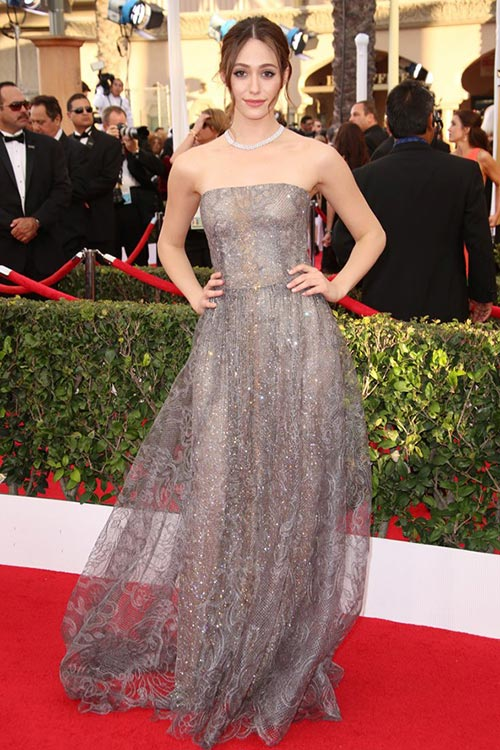 SAG Awards 2015 Red Carpet Fashion: Emmy Rossum