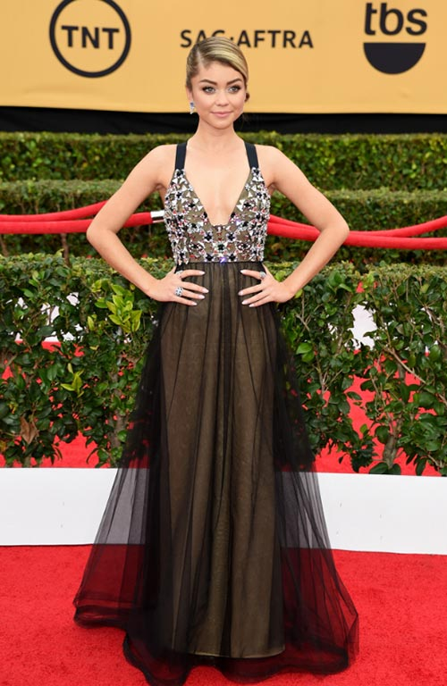 SAG Awards 2015 Red Carpet Fashion: Sarah Hyland