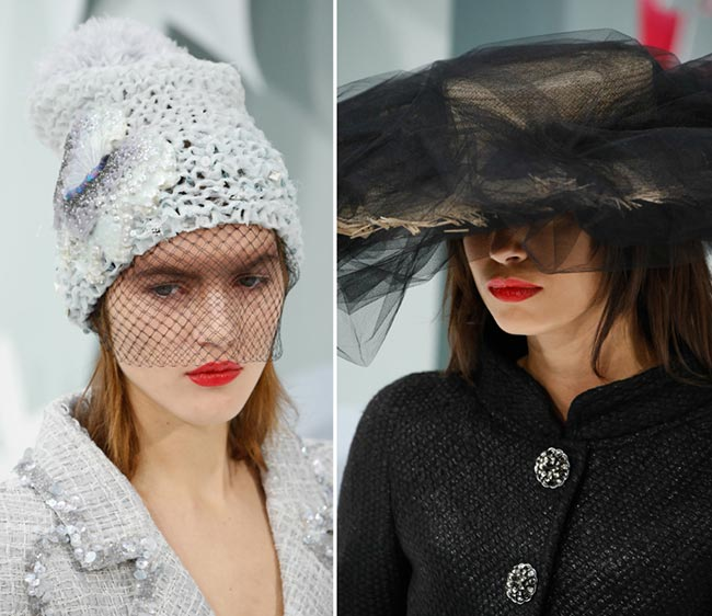 Spring 2015 Couture Accessories: Chanel Couture Spring 2015 Headwear