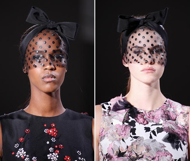 Spring 2015 Couture Accessories: Giambattista Valli Couture Spring 2015 Headwear