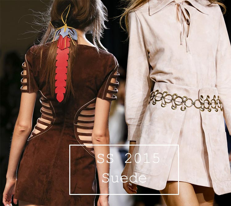 Spring/ Summer 2015 Trend of Suede Clothing