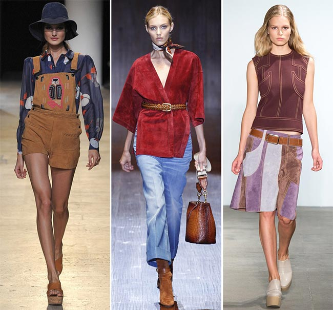 Spring/ Summer 2015 Trend of Suede Clothing: '70s Suede