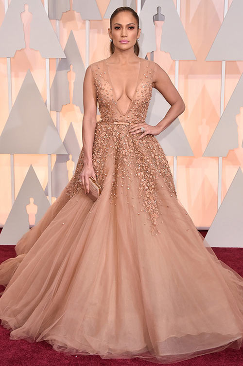 2015 Oscars Red Carpet Fashion: Jennifer Lopez
