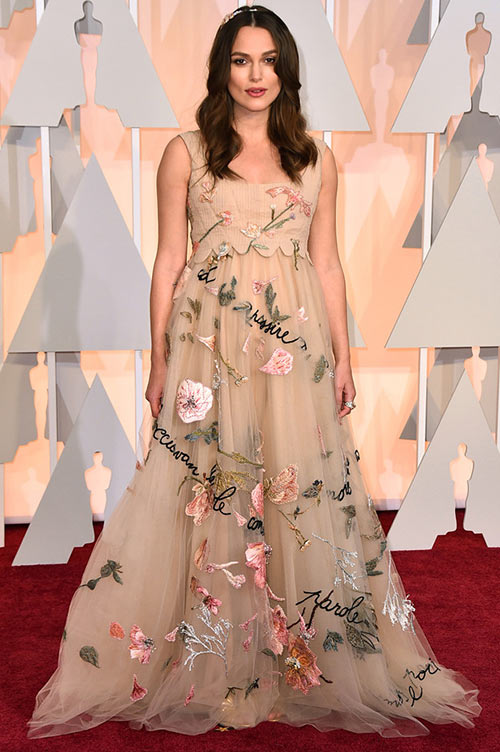 2015 Oscars Red Carpet Fashion: Keira Knightley