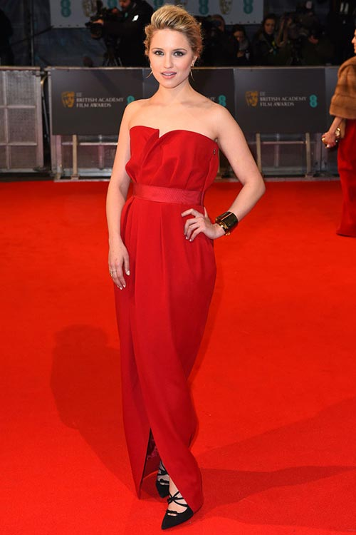 BAFTA Awards 2015 Red Carpet Fashion: Dianna Agron
