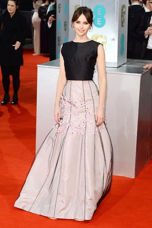 BAFTA Awards 2015 Red Carpet Fashion: Felicity Jones