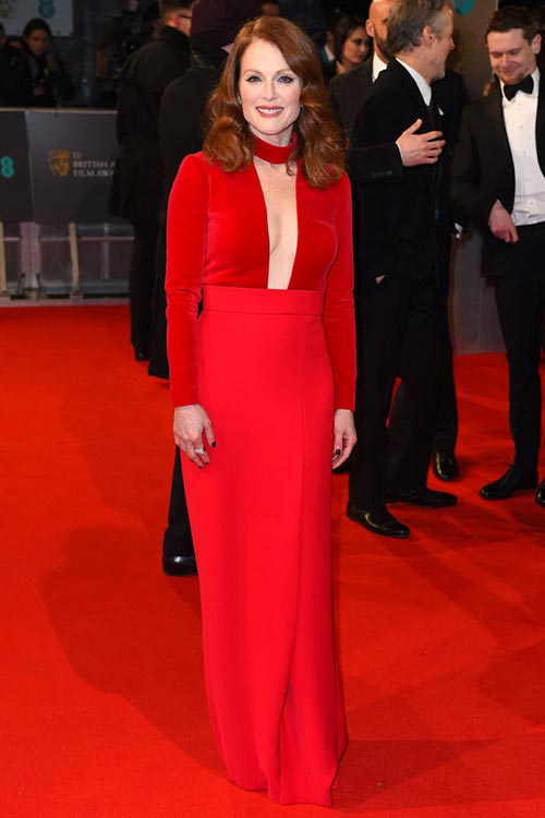 BAFTA Awards 2015 Red Carpet Fashion: Julianne Moore